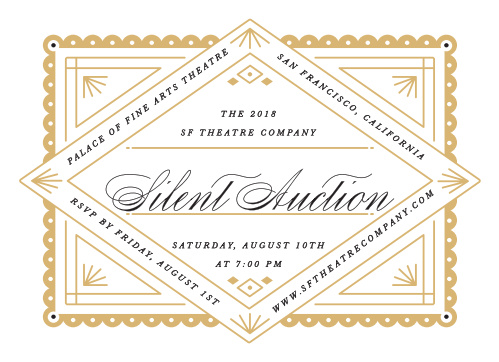 Celebrate the night away with our Silent Auction Gala Invitations.