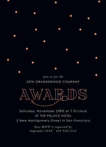 Celebrate the night away with our stunning Awards Night Gala Invitations.
