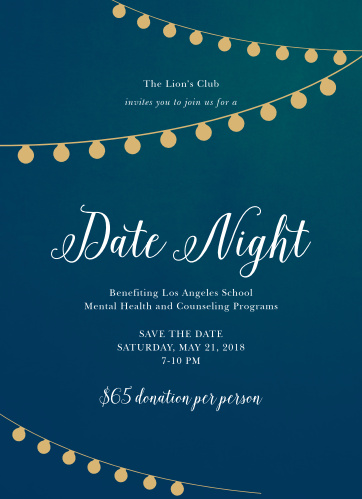 Celebrate the night away with our stunning Date Night Gala Invitations.