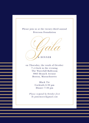 Celebrate the night away with our stunning Royal Jewel Gala Invitations.
