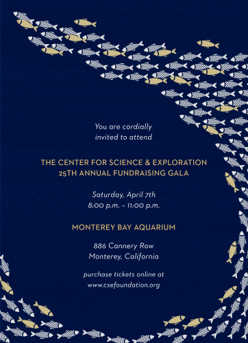 Celebrate the night away with our stunning Ocean Environment Gala Invitations.