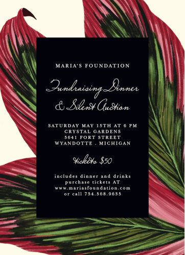 Celebrate the night away with our Warm Breezes Gala Invitations.