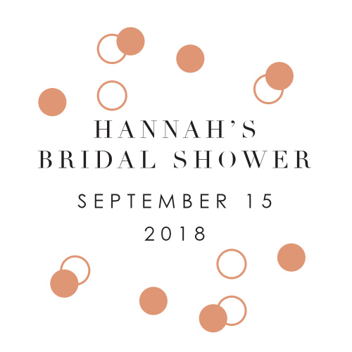 Accessorize your bridal shower stationary with our Champagne Toast Bridal Shower Stickers!