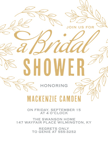 Our Bold & Bright Bridal Shower Invitations are the perfect cards for seasonal or outdoor events.