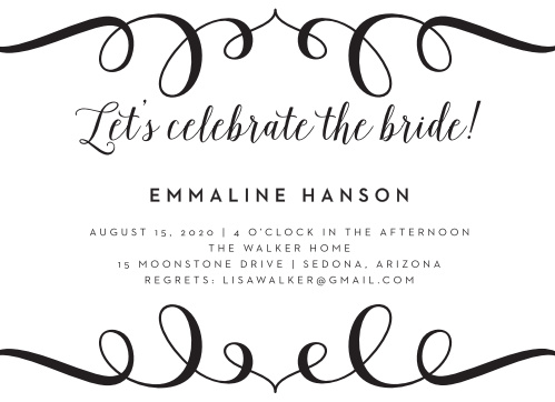 Celebrate the bride to be in style with our Classically Stated Bridal Shower Invitations.