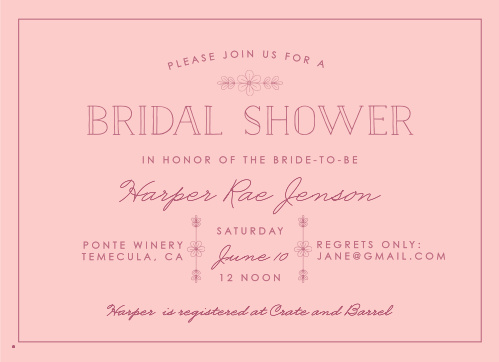 Our Delicate Daisy Bridal Shower Invitations are accentuated with intricate daisy decorations.