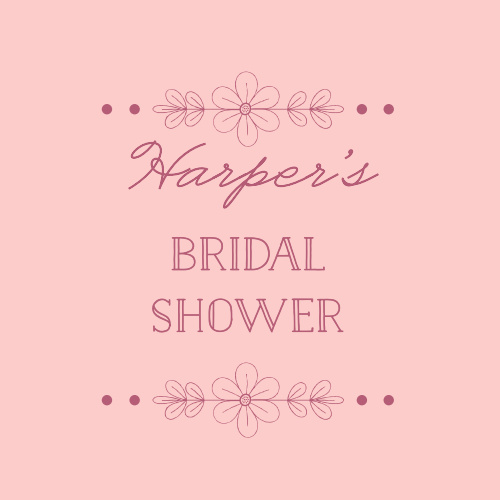 Our Delicate Daisy Bridal Shower Stickers are accentuated with intricate daisy decorations.