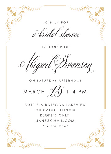 Our Fancy Affair Bridal Shower Invitations are perfect for your formal event!