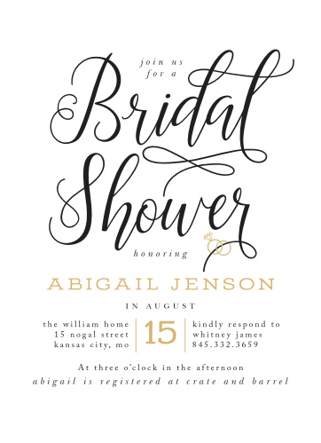 Our Gilded Bling Bridal Shower Invitations are playful and casual!
