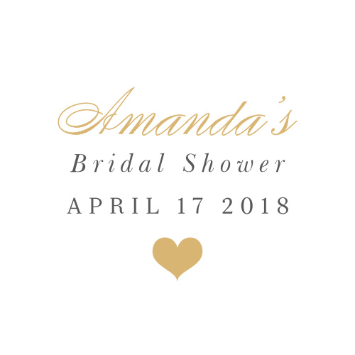 Our Small Heart Bridal Shower Stickers will win your guests hearts!