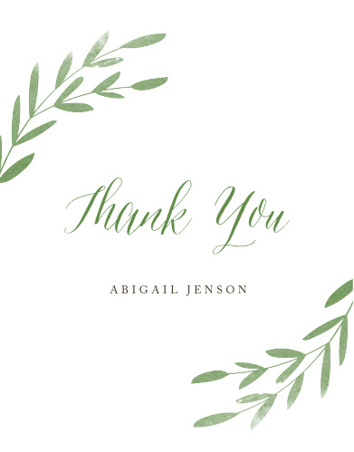 Spring bridal shower invitations match your color style free spring leaves bridal shower thank you cards filmwisefo