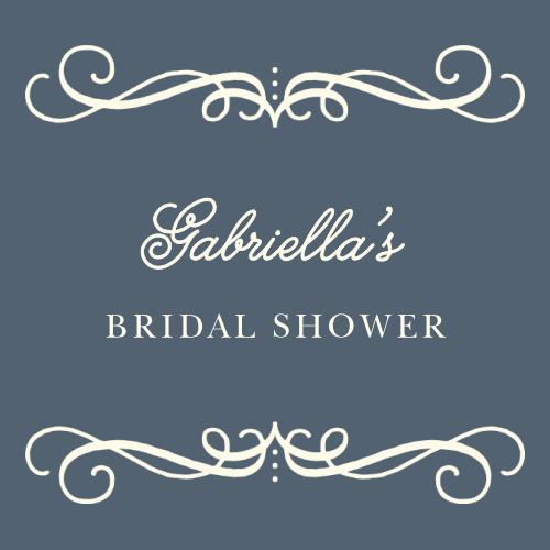 Our Swirling Script Bridal Shower Stickers are the picture of vintage elegance!