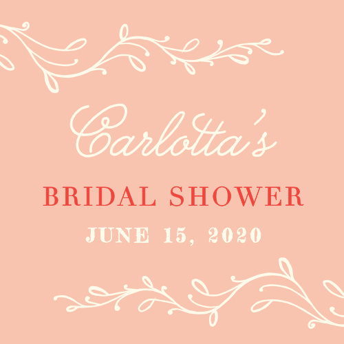 Go for a classically romantic design with our Vintage Vines Bridal Shower Stickers!