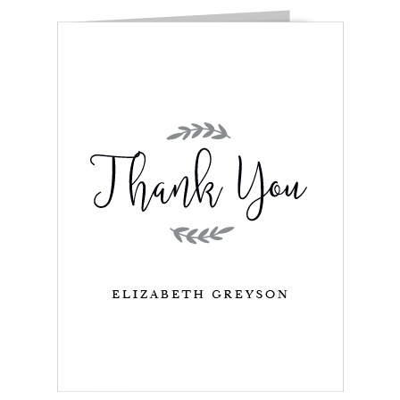 Send your thanks to your loved ones with our simple and chic our The New Mrs Bridal Shower Thank You Cards!