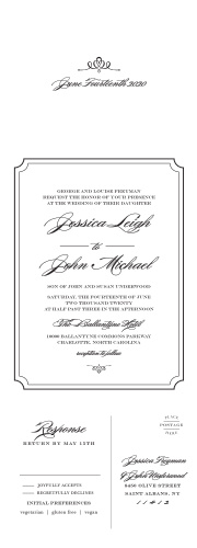 Invite guests to your posh event with Elegant Script Seal & Send Wedding Invitations.