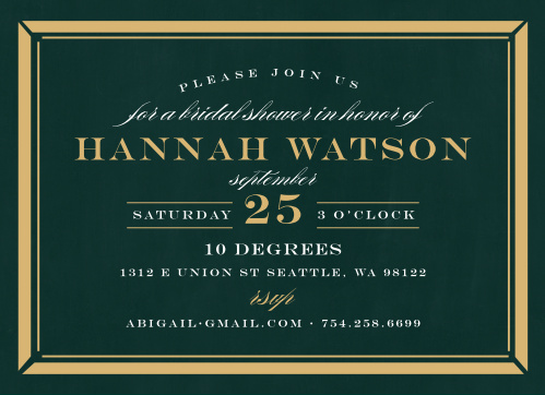 Chalkboard bridal shower invitations match your color style free lovely border bridal shower invitations filmwisefo