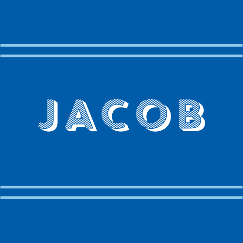 Our stunning Big Name Bar Mitzvah Stickers are as simple as they come: your son's name adorns the center in bold, 3D-style text against a deep blue background, carefully delineated by a double-duo of pale blue lines. These stickers are perfect for decorating stationery, sealing envelopes, and as little mementos of the big day!