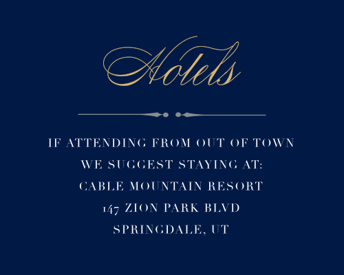 Recommend only the best local hotels to your guests with our stunning Perfect Type Bat Mitzvah Lodging Cards.