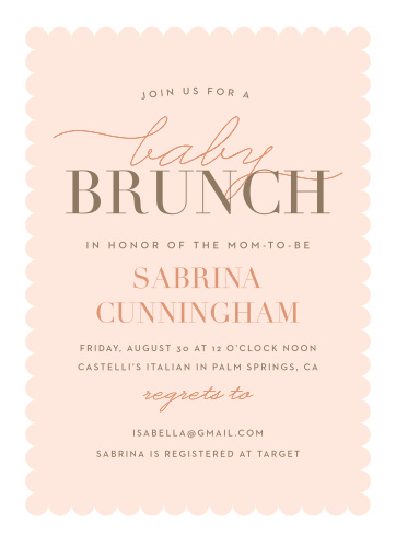 Baby shower brunch invitations match your color style free baby brunch baby shower invitations filmwisefo