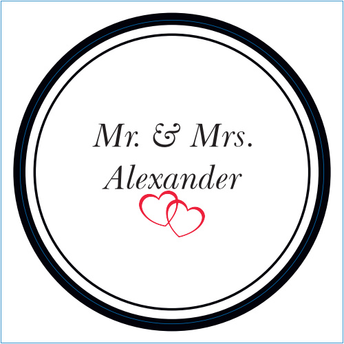 The Double Hearts logo square is the perfect finishing touch for this or any wedding invitation set.