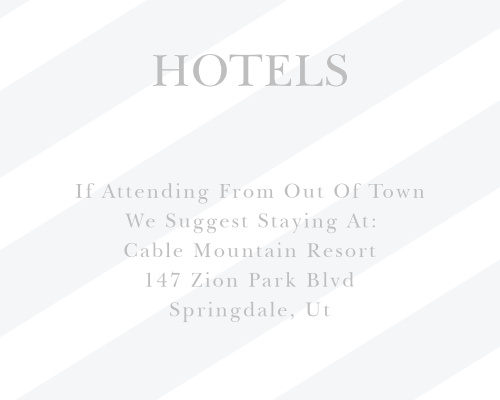 Recommend only the best local hotels to your guests with our stunning Frankly Framed Bar Mitzvah Lodging Cards.
