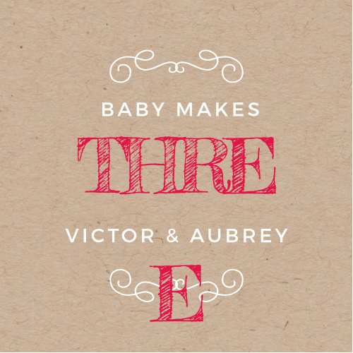 Our Big Three Baby Shower Stickers are perfect for the sweet parents who are expecting another addition to their family!