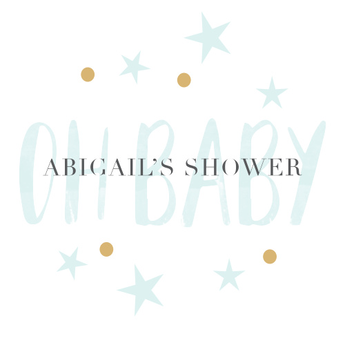 Our Delicate Night Baby Shower Stickers have a softly colored