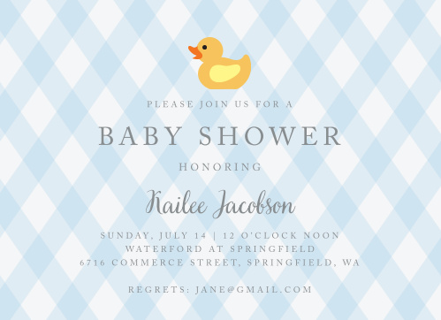 Warm your guests hearts with our darling Little Duckie Baby Shower Invitations!