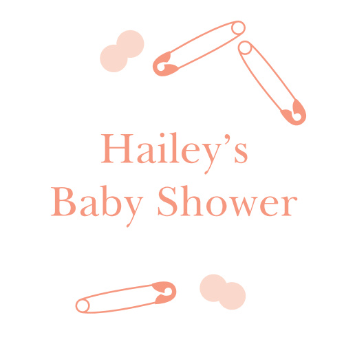 Our Minimalist Confetti Baby Shower Stickers are decorated with confetti and safety pins done up in a lovely sienna pink.