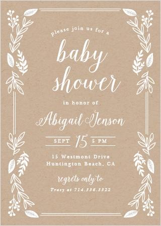 Petite Jardin Baby Shower Invitations