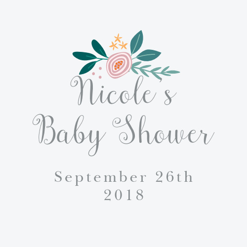 You'll love the darling illustrations featured on our Rustic Bouquet Baby Shower Stickers!