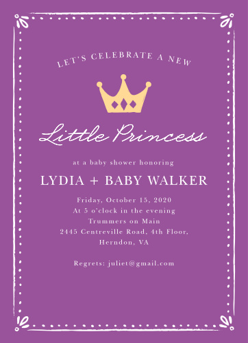 Our Sweet Princess Baby Shower Invitations are the perfect cards for your sweet little girl on the way!