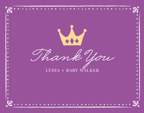 Our Sweet Princess Baby Shower Thank You Cards are the perfect cards for your sweet little girl on the way!
