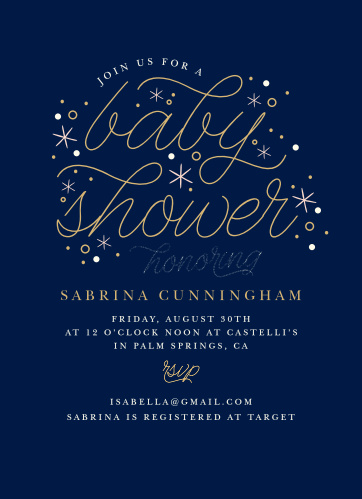 Sweet Stars Baby Shower Invitations