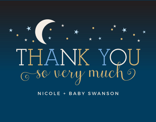 Our Twinkle Little Star Baby Shower Thank You Cards are heartwarmingly sweet!