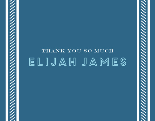 Our Retro Columns Bar Mitzvah Thank You Cards utilize the same gorgeous design and color scheme as several other cards in the Retro Columns mitzvah suite.