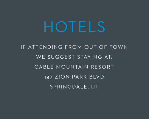 Recommend only the best local hotels to your guests with our stunning Make A Statement Bar Mitzvah Lodging Cards.