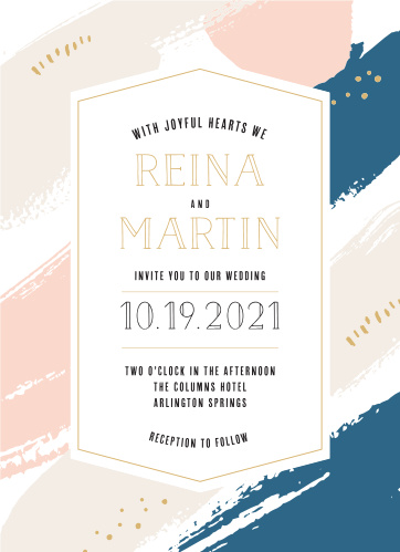 For a beautiful invitation befitting the elegance of your wedding plans, look no further than our Perennial Painterly Wedding Invitations.