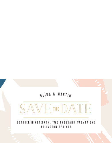Our Perennial Painterly Save-the-Date Cards ensure that your loved ones mark their calendars well in advance of your special day.