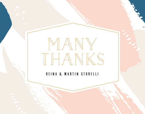 Our Perennial Painterly Wedding Thank You Cards utilize the same gorgeous design and color scheme as several other cards in the Perennial Painterly wedding suite.