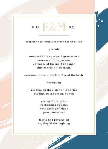 Our Perennial Painterly Wedding Programs utilize the same gorgeous design and color scheme as several other cards in the Perennial Painterly wedding suite.