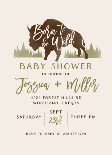 Born to Be Wild Baby Shower Invitations are a breath of fresh air.