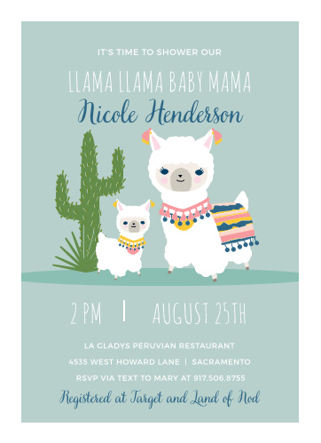 Baby shower invitations 40 off super cute designs basic invite llama mama baby shower invitations filmwisefo