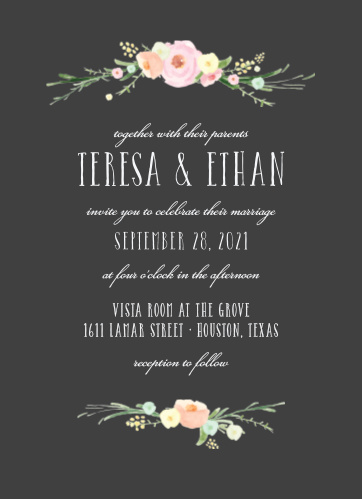 Shaded Garden Wedding Invitations