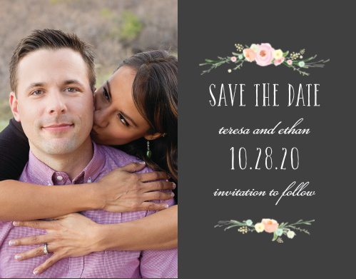 Give your friends and family plenty of time to mark their calendars with our Shaded Garden Save-the-Date Cards.