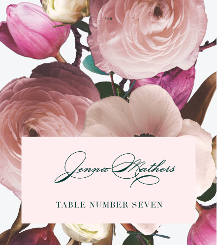 Our Southern Romance Place Cards are a perfect choice for your perfect day.