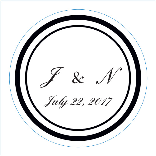 The Classic logo square is the perfect finishing touch for this or any wedding invitation set.