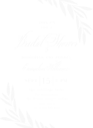 Bridal shower invitations wedding shower invitations basicinvite greenery leaves clear bridal shower invitations filmwisefo