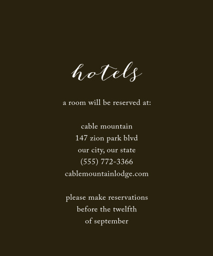 Keep your guests as comfortable as possible in the days leading up to your wedding with our Purple Blooms Accommodation Cards. Vibrant flowers grow across the top of the card in stunning purples and greens, contrasting the earth tones of the background and the pure white of your guiding text.