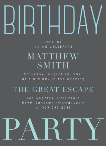 Adult birthday invitations match your color style free modern soiree adult birthday party invitations filmwisefo